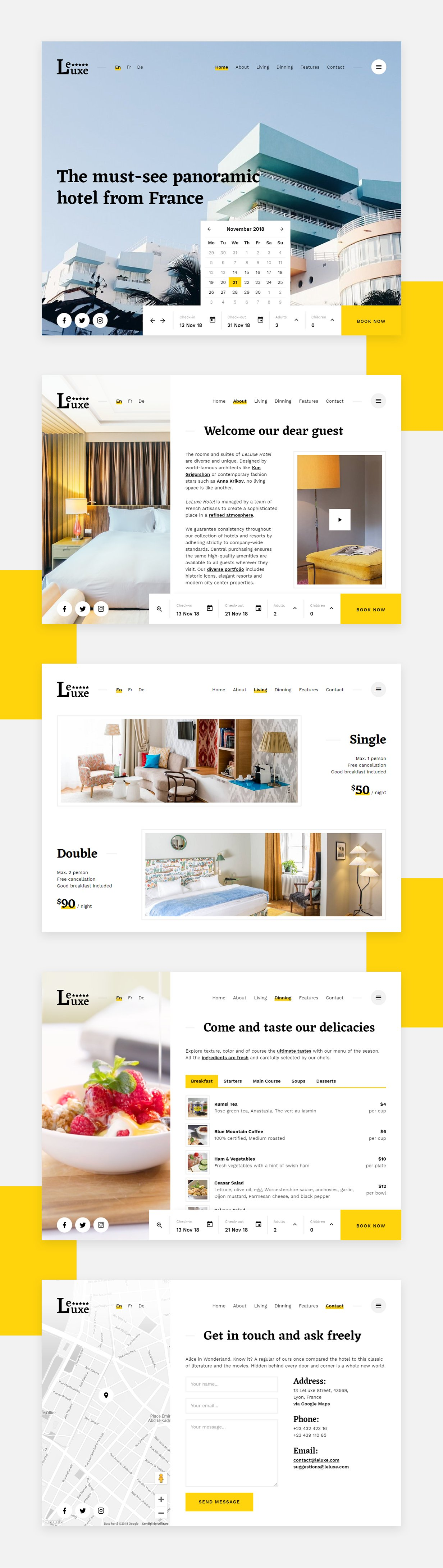 LeLuxe - Booking Hotel HTML Site Template - 1