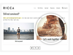 Ricca – A Fresh Responsive Theme For Creatives free download