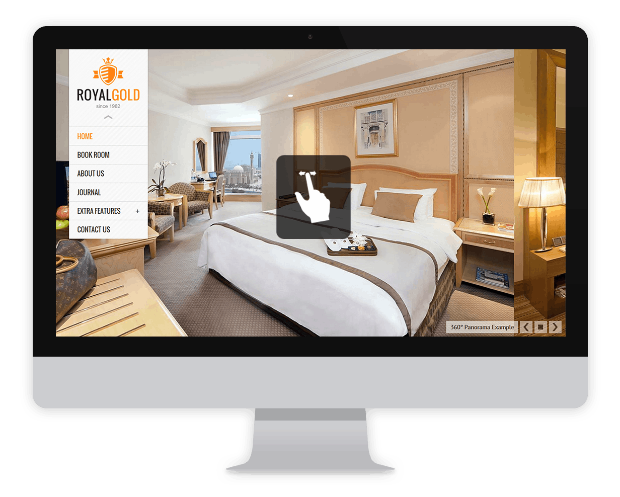 RoyalGold - A Luxury & Responsive Hotel or Resort Theme For WordPress - 1