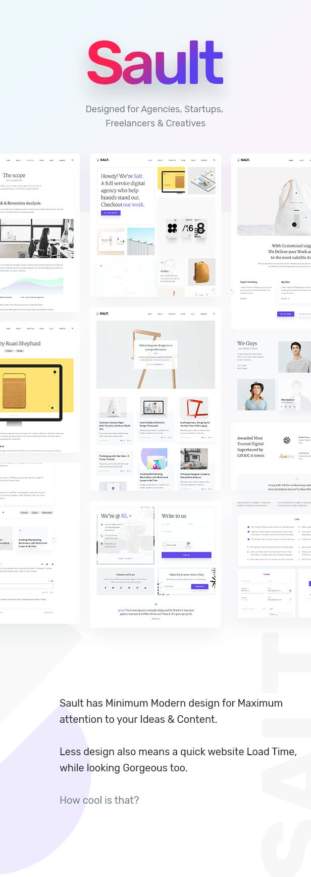 sault creative portfolio html5 template for agencies startups